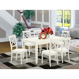 Smyrna 7 - Piece Solid Wood Dining Set by Charlton Home®