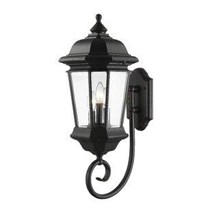 Best Reviews Bibb 3-Light Outdoor Wall Lantern By Fleur De Lis Living