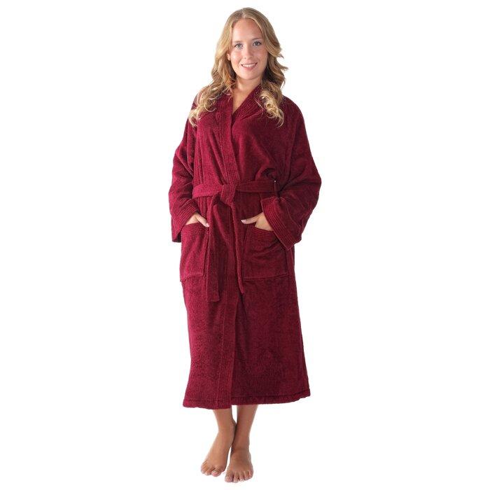4fbf5df256 Winston Porter Tattnall Women's Atlantis Kimono 100% Cotton Terry ...