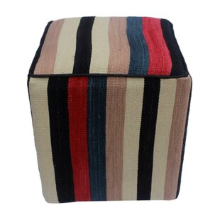 Guilford Kilim Cube Ottoman by Winston Porter