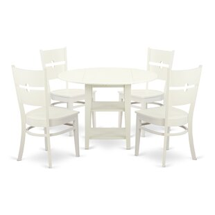Charlton Home Tyshawn 5 Piece Drop Leaf Breakfast Nook Dining Set