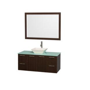Amare 48 Single Espresso Bathroom Vanity Set with Mirror By Wyndham Collection