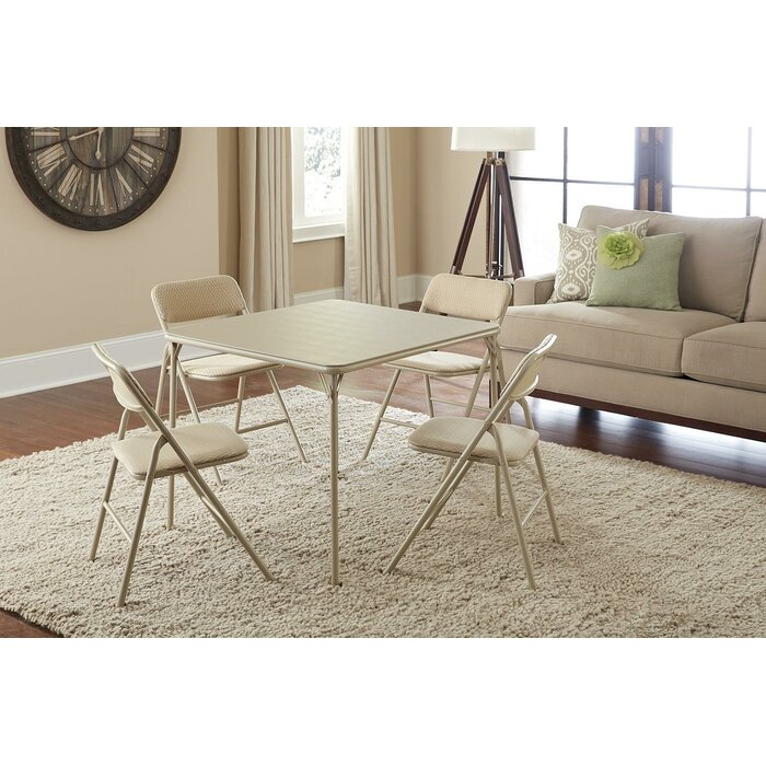 Cosco Home And Office 34 Square Folding Table Set With 4 Chairs