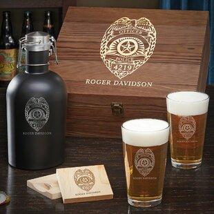 Boger Police Badge Boxed 6 Piece Beverage Serving Set (Set of 5)