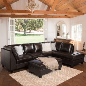 Daniel Leather Sectional by Home Loft Concepts