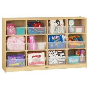 Inexpensive 12 Compartment Cubby with Casters ByJonti-Craft