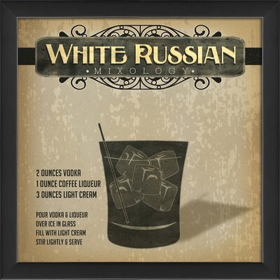 The Artwork Factory White Russian Mixology Framed Graphic Art Wayfair
