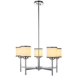 Ironwood 5-Light Shaded Chandelier by Mercer41