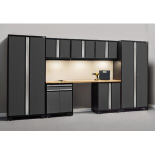 Pro 3.0 Series 8 Piece Storage Cabinet Set with Worktop by NewAge Products