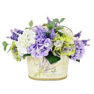 Mixed Centerpiece in Basket byOne Allium Way