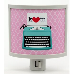 Common Rebels Mono Typewriter Love Personalized Night Light