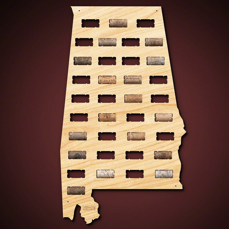 Millwood Pines Alabama Wine Cork Wall Décor   Wayfair