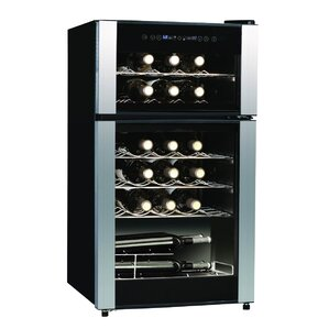 29 Bottle Dual Zone Freestanding Wine Cooler by Koolatron