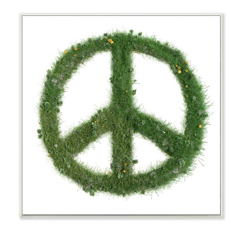 stupell industries grass peace sign graphic art print wayfair