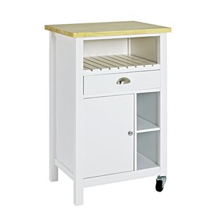 Belinda Kitchen Trolley With Solid Wood Top By August Grove