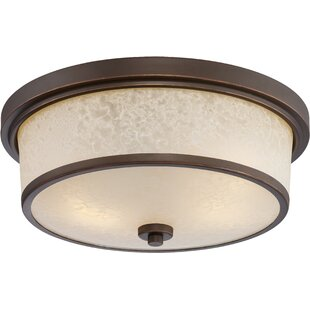 Thorpe 2-Light LED Outdoor Flush Mount by Alcott Hill