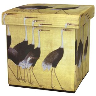 March of the Cranes Storage Ottoman by Oriental Furniture