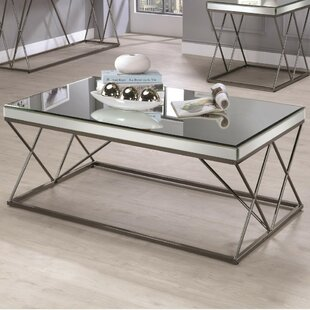 Kellogg Modern Mirrored Coffee Table by Mercer41