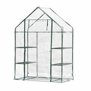 ALEKO 4.58 Ft. W x 2.41 Ft. D Mini Greenhouse