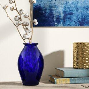 Wilkerson Cobalt Sharie Gl Table Vase