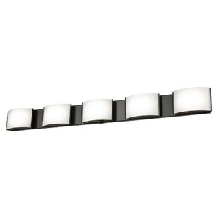 Orren Ellis Lottie 5-Light LED Bath Bar