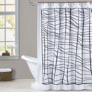 Ashlee Rae Web Print Single Shower Curtain