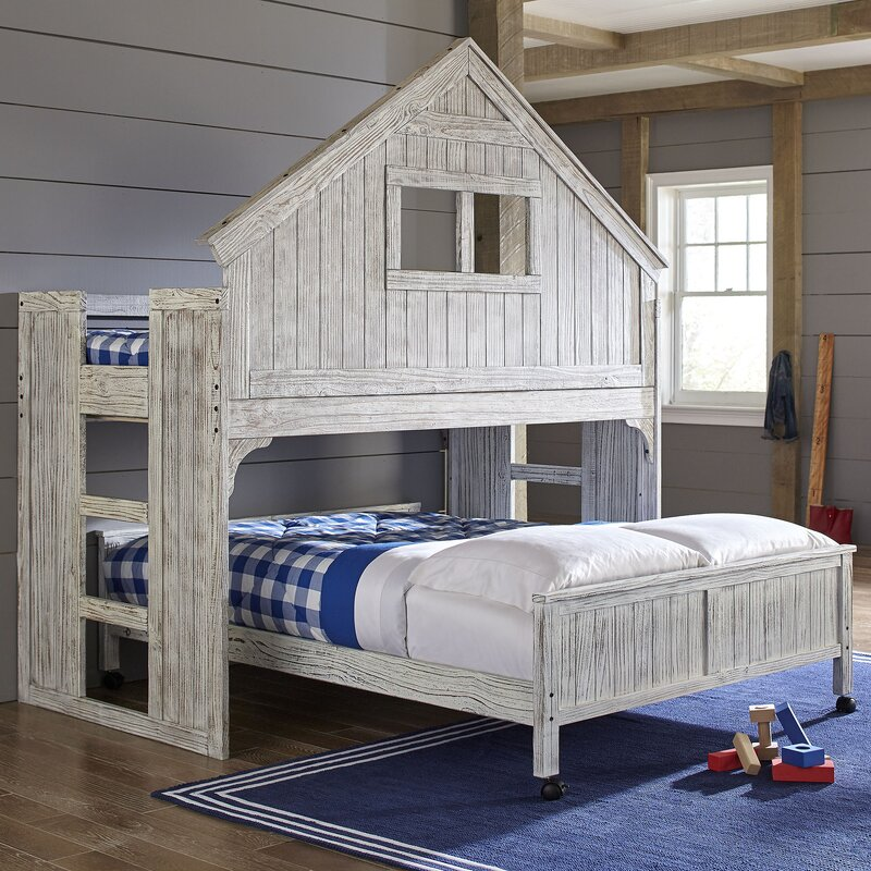 Lake House Twin Over Full Bunk Bed. Birch Lane Kids  Lake House Twin Over Full Bunk Bed   Reviews