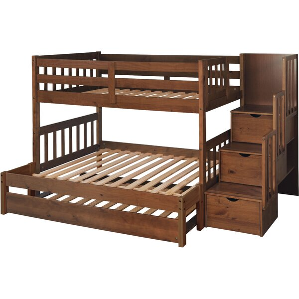 Full Bunk Bed With Trundle Part - 32: Just Cabinets Wyatt Twin Over Full Bunk Bed With Trundle U0026 Reviews   Wayfair