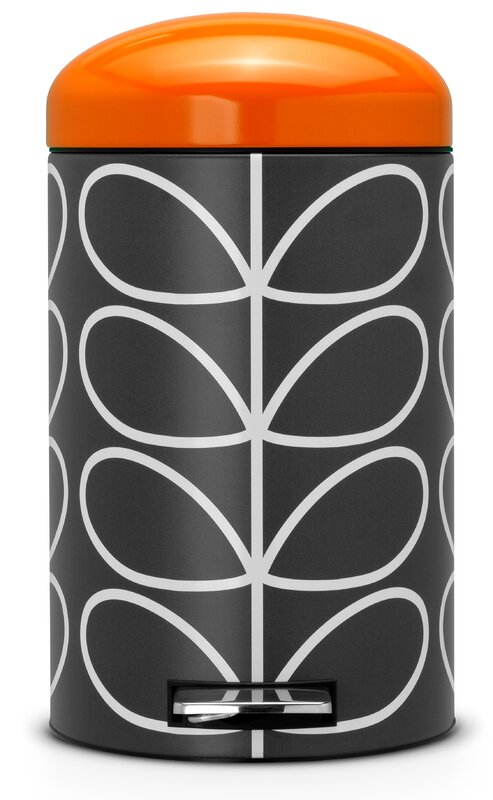 brabantia 12 l step on m lleimer orla kiely aus metall bewertungen. Black Bedroom Furniture Sets. Home Design Ideas