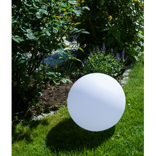 Peristerona White Solar Powered LED Outdoor Lawn Ornament By Sol 72 Outdoor