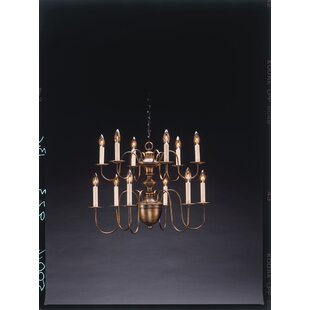 Kanisha Sockets Hanging 2 Tier Half Ball S-Arms 12-Light Chandelier by Astoria Grand