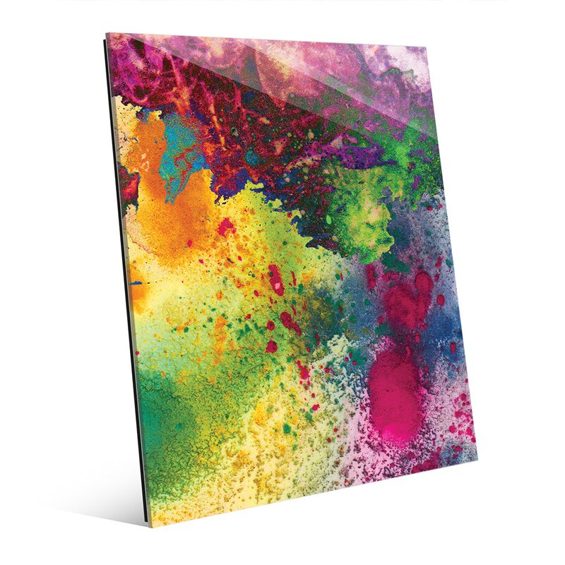 'The Source Abstract' Painting Print on Glass