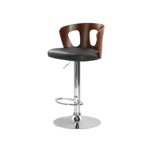 Yarm Height Adjustable Swivel Bar Stool By George Oliver