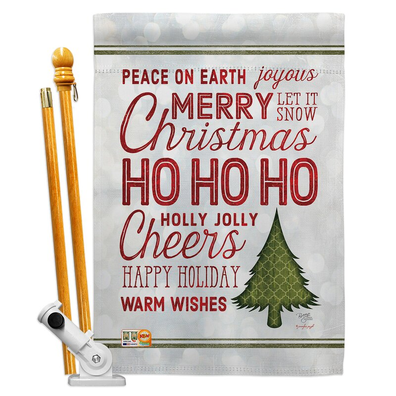 Breeze Decor Christmas Wishes Words Impressions Decorative 2 Sided Polyester 40 X 28 In Flag Set Wayfair