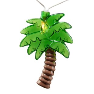 The Holiday Aisle Persia Fun Palm Tree 10 Light Novelty String Lights