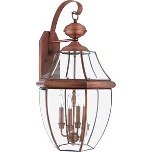 Mellen 4-Light Incandescent Outdoor Wall Lantern By Three Posts Outdoor Lighting