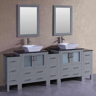 Chelsea 96 Double Bathroom Vanity Set with Mirror by Bosconi