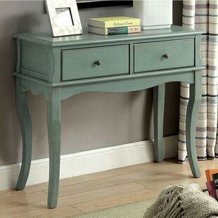 Aranda Rustic Teal Hallway 2 Drawers Console Table