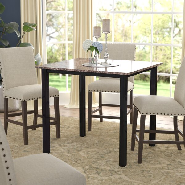 Counter Height Faux Marble Table Wayfair
