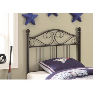 Shen Twin Wrought Iron Headboard by Harriet Bee