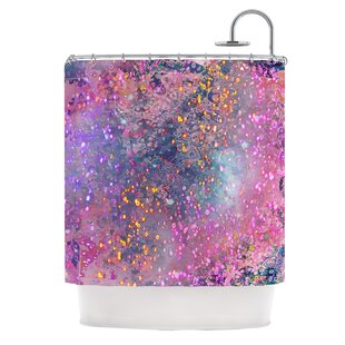 Pink Universe Single Shower Curtain