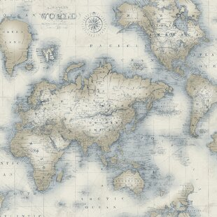 World Map Wallpaper Wayfair