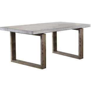 Evgenia Transitional Rectangular Solid Wood Dining Table by Union Rustic