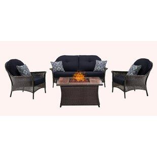 Bayou Breeze Kinnison 4 Piece Sofa Set with Cushions