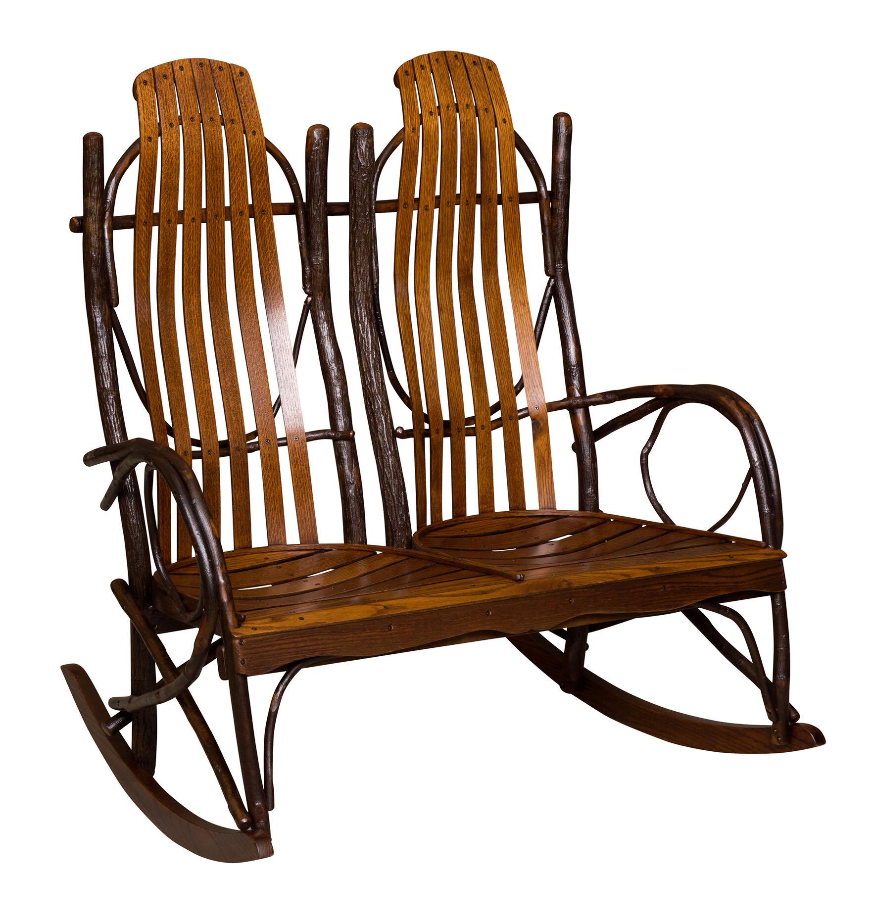 Loon Peak Queener Double Rocking Chair