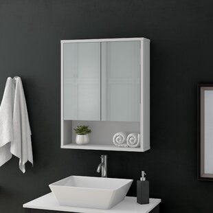 Vesper 57 X 71.6cm Wall Mounted Mirror Cabinet By Mercury Row