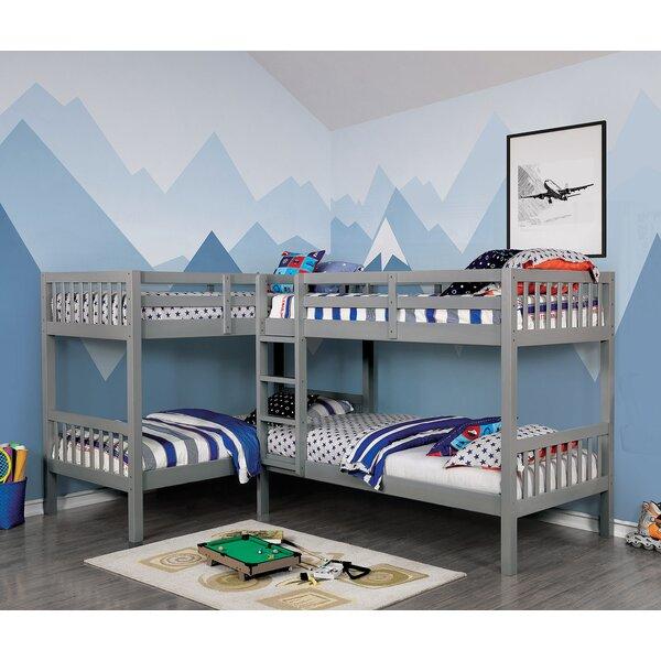Andover Mills Baby Kids Lyme Quadruple Twin Over Twin Bunk Bed Reviews Wayfair Ca