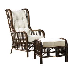 Bora Bora Wingback Chair and Ottoman By Panama Jack Home