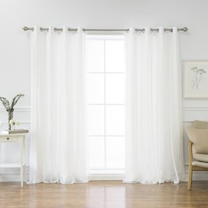 Holland Solid Blackout Thermal Grommet Curtain Panels (Set of 2)