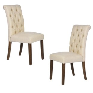 Caouette Tufted Upholstered Parsons Chair Set of 2 by Red Barrel Studio